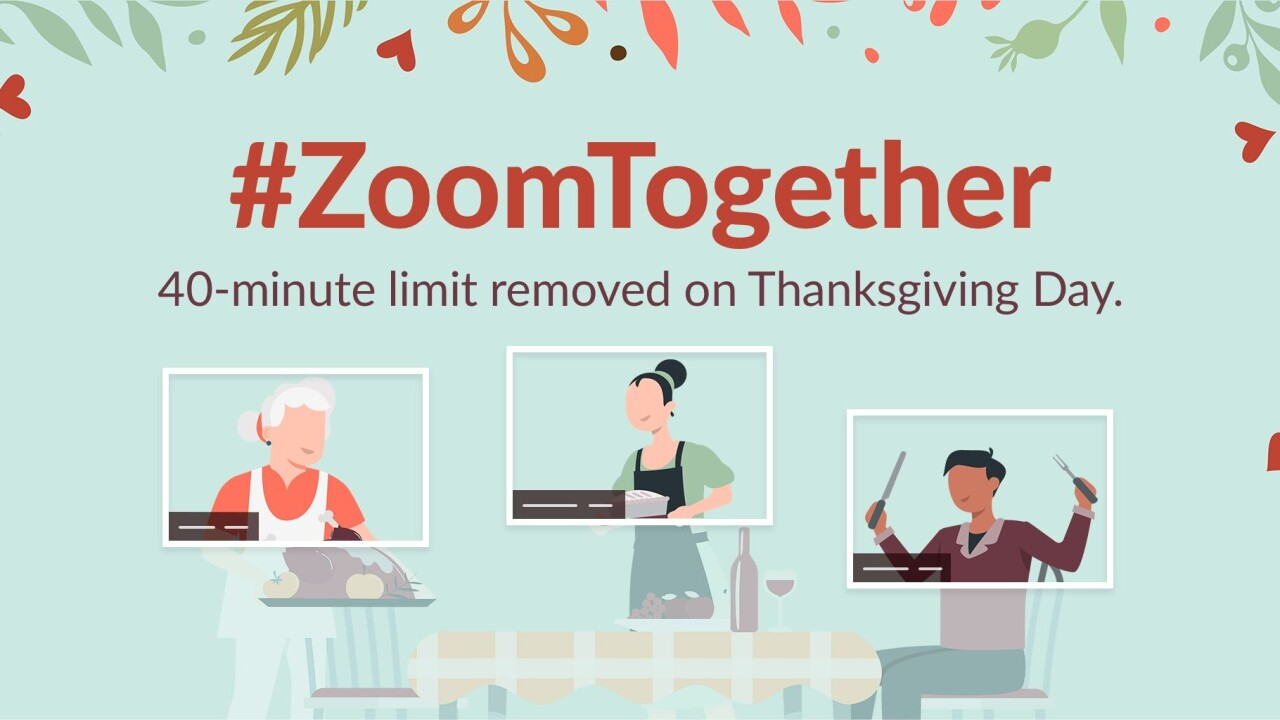 Zoom is getting rid of its 40-minute limit, but just for Thanksgiving