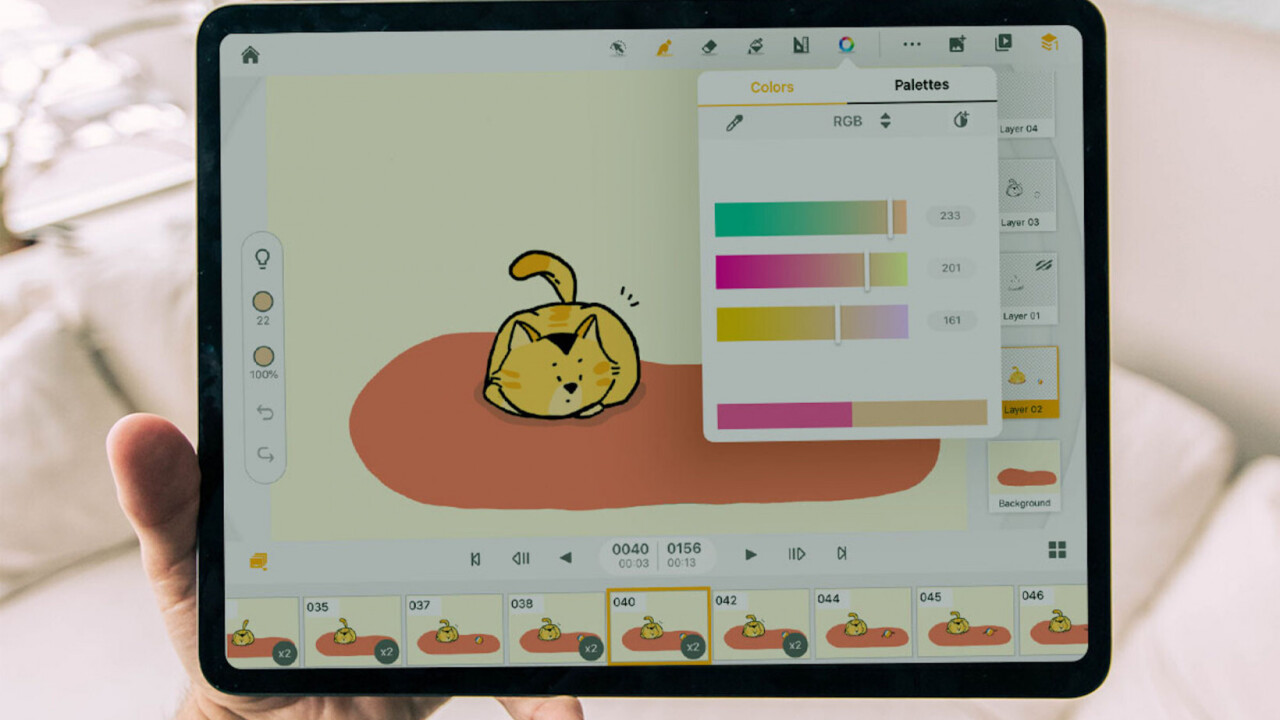 Animation Desk Pro lets you create cool animations and GIFs right on your iPhone or iPad