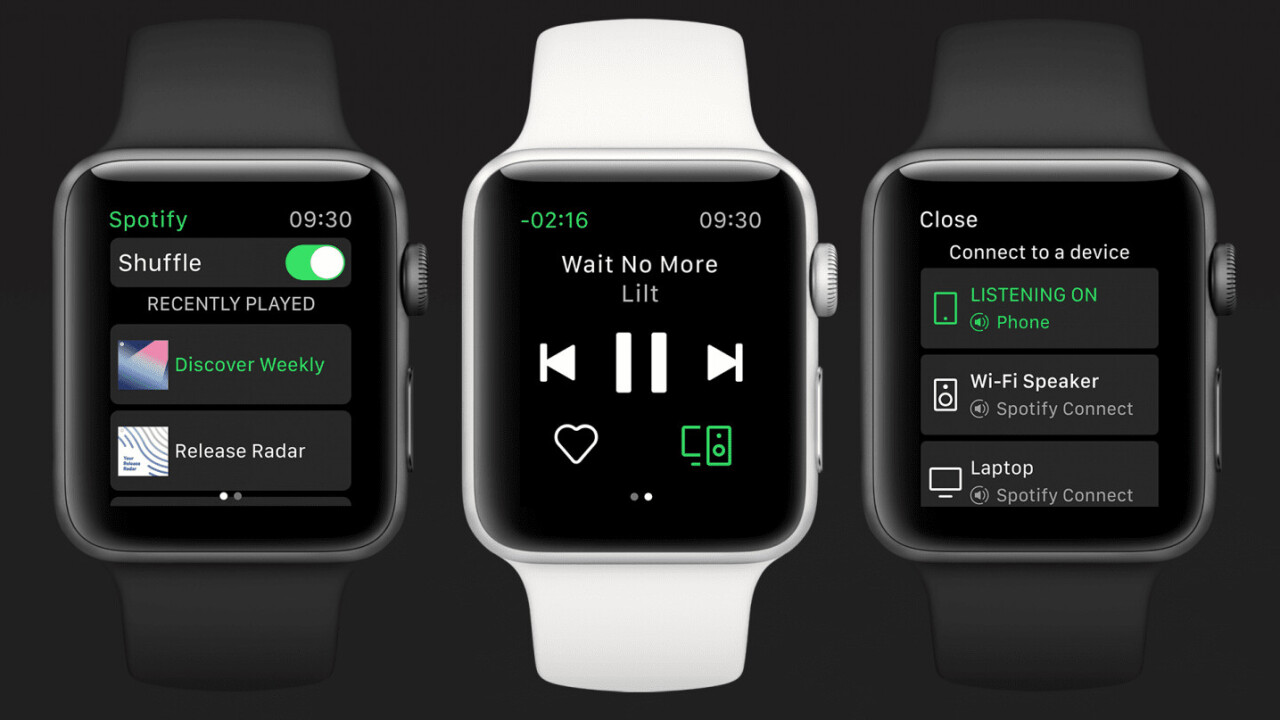 Spotify will now allow you to stream songs directly from your Apple Watch