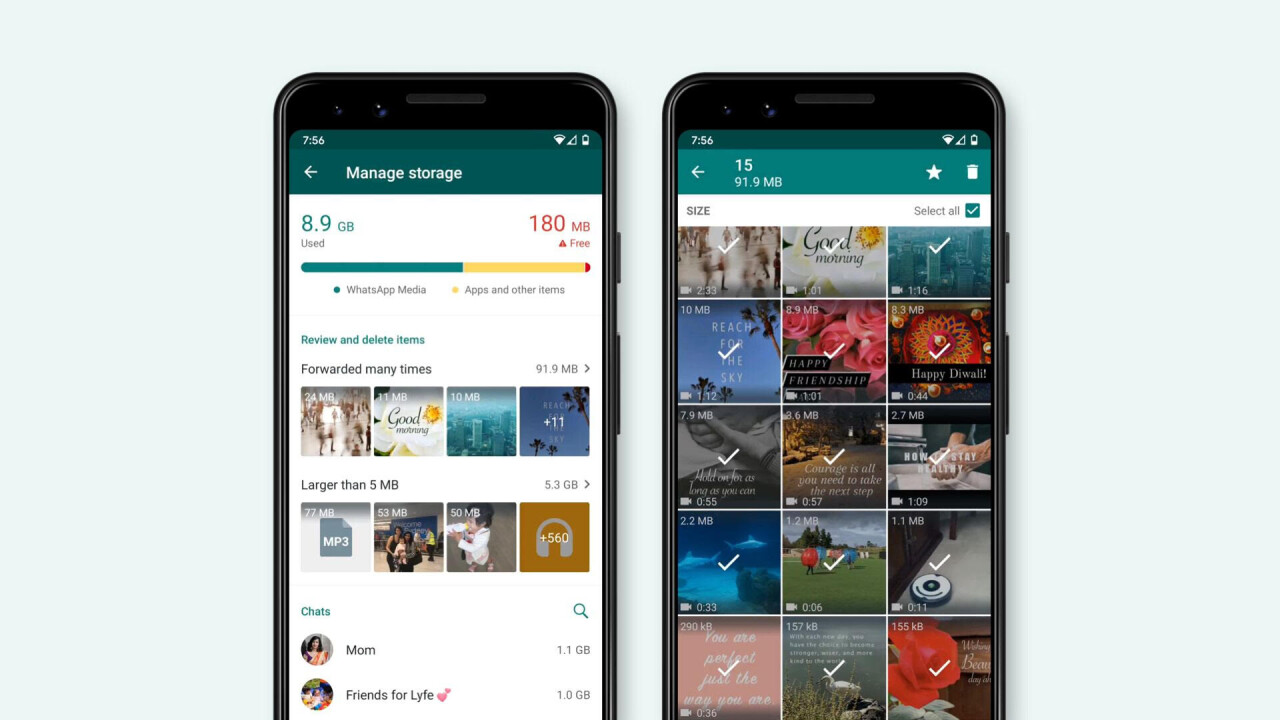 WhatsApp just made it easier to clear up space on your phone