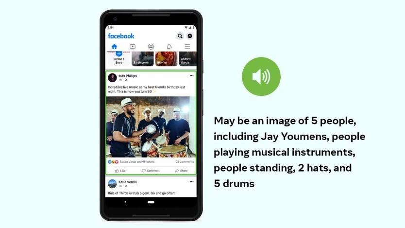 Facebook's AI for describing photos in your feed is way smarter now