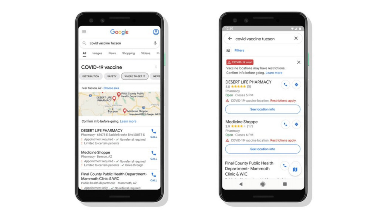 Google Maps is adding COVID19 vaccine sites