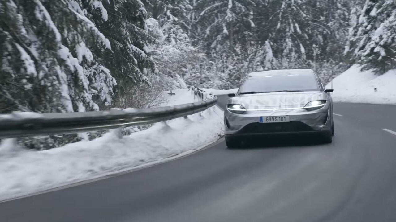 Sony's concept car is being tested on public roads, just 12 months after reveal