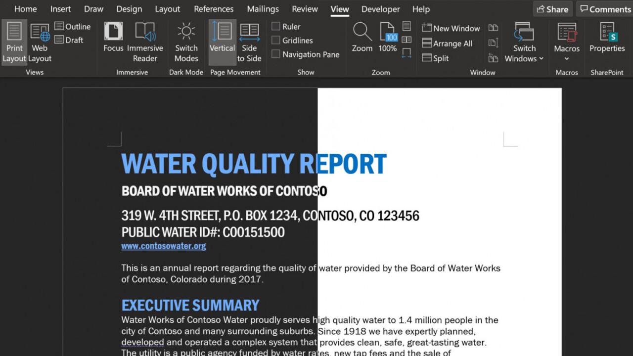 Microsoft Word is testing an even darker dark mode