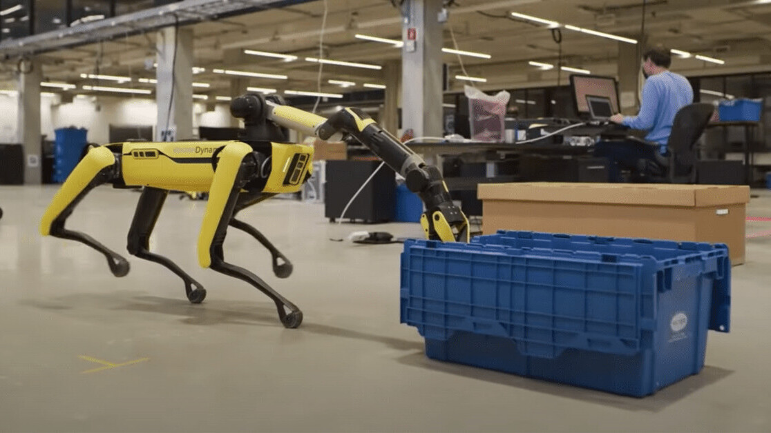 Boston Dynamics' terrifying robot dog now has an arm and a self-charging dock