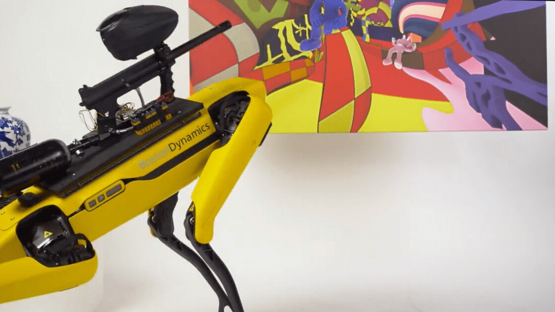 Boston Dynamics doesn't want you to shoot paintballs from Spot the robot dog