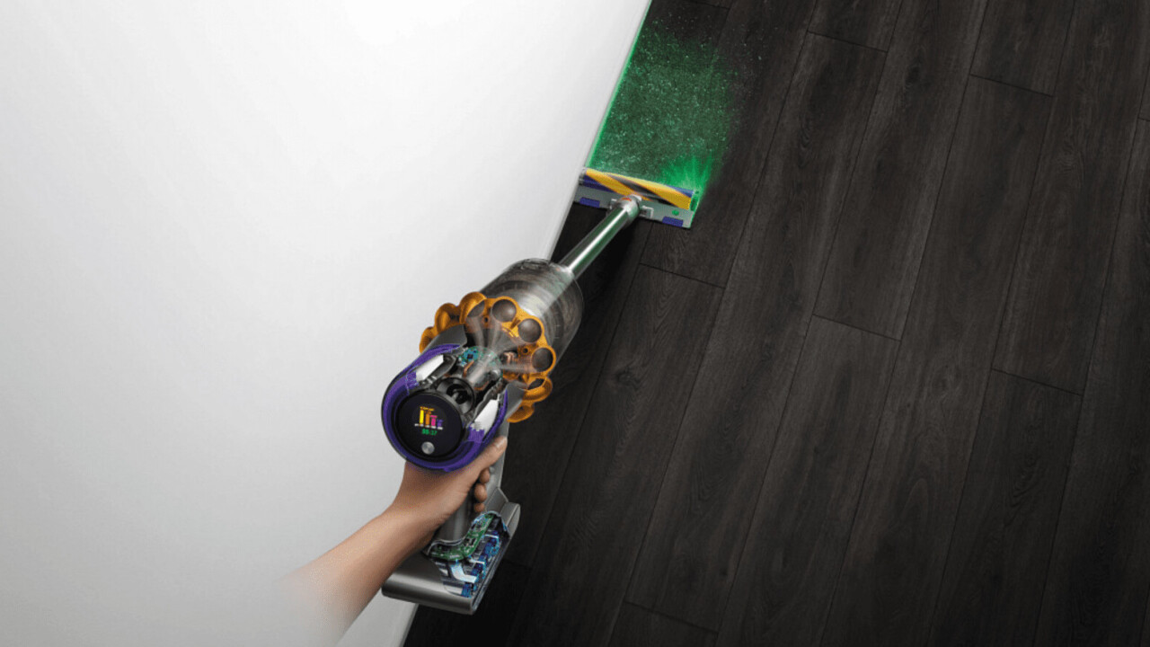 Dyson's V15 Detect vacuum uses a green laser to light up your grimy floors