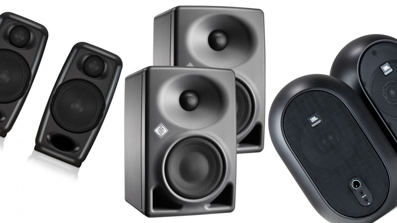 These 3 studio monitors are great speakers for a small desk