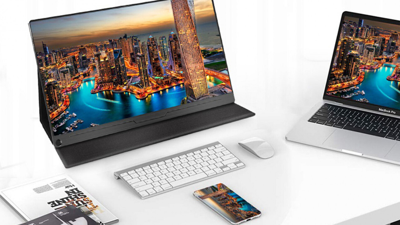 Get an extra screen for your laptop and even phone with his 1080p portable screen