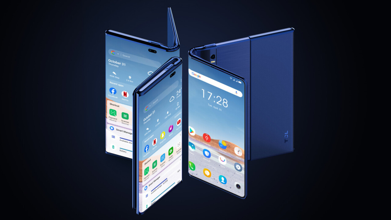 TCL teased a phone that both folds and rolls, and I totally love it