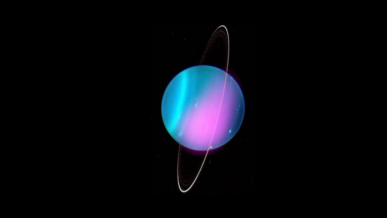 X-rays out of Uranus make the ice planet look like an '80s album cover