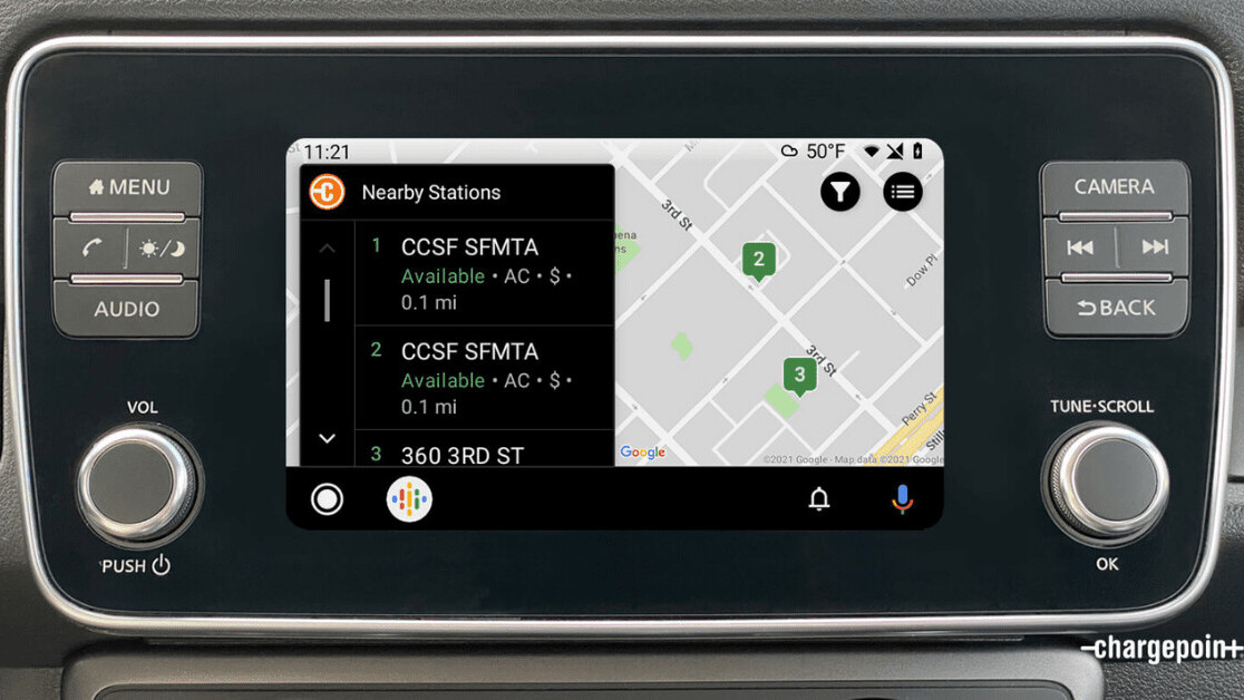 ChargePoint's app for locating EV juicing spots arrives on Android Auto