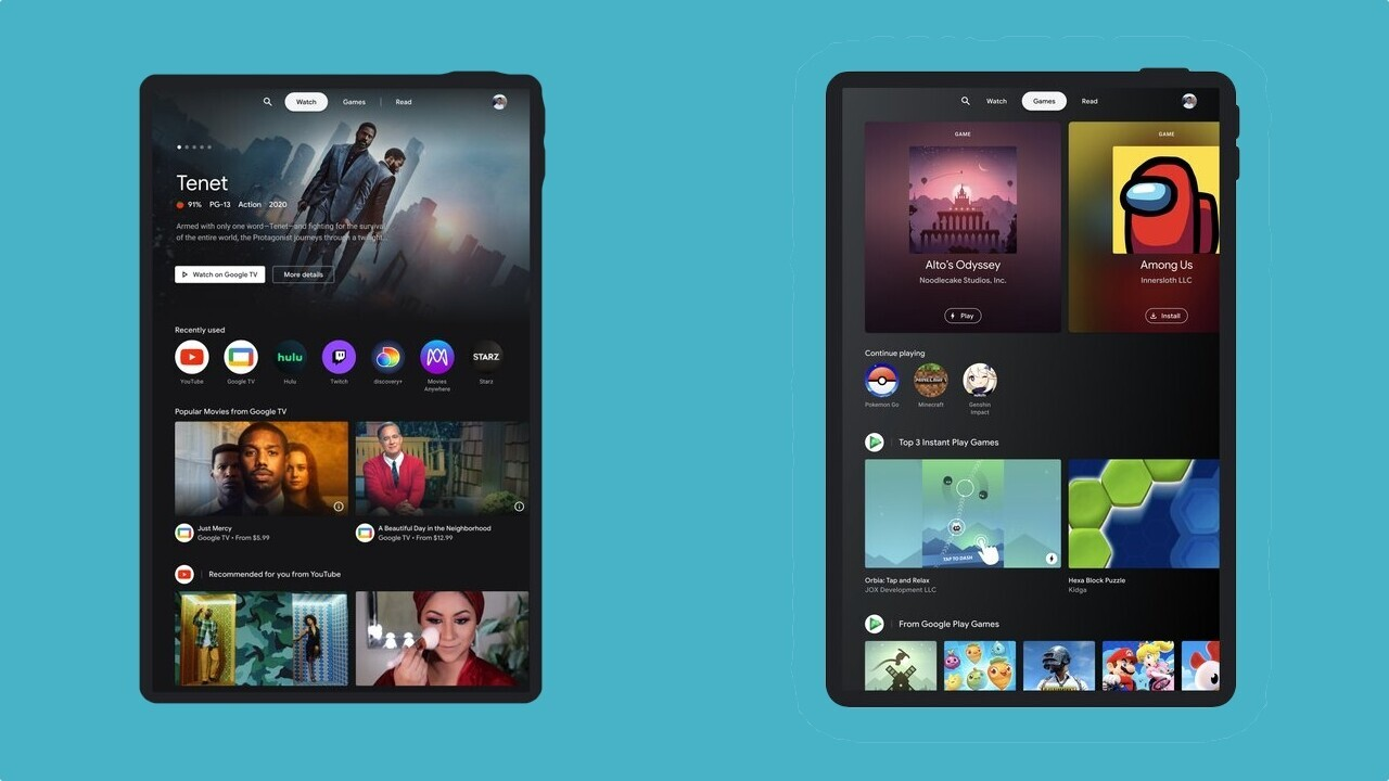 Google is zhuzhing up Android tablets with a hub for entertaining content and games