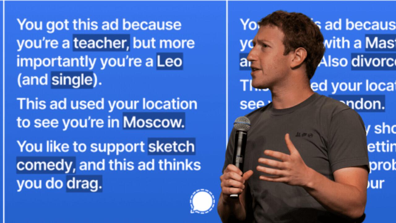 Signal's smartass ad exposes Facebook's creepy data collection