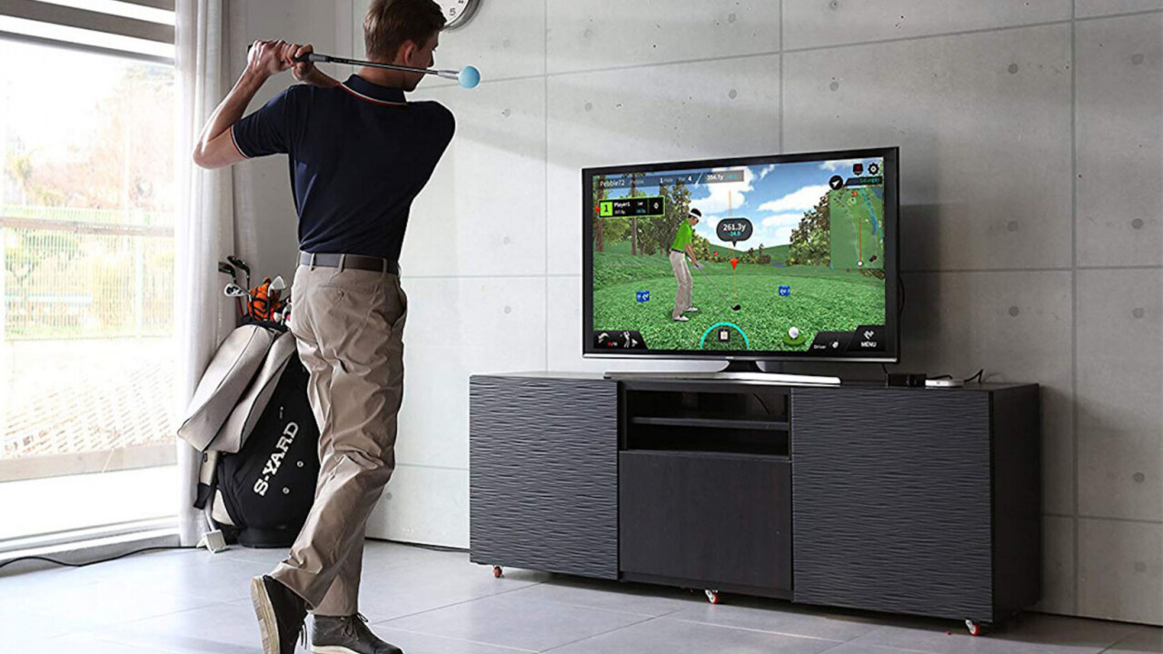 PhiGolf brings real golf swings and photorealistic world famous courses into your home