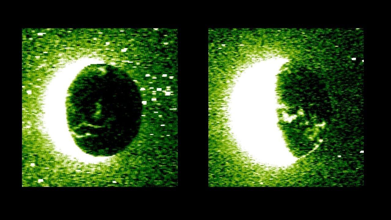 Mars probe captures groundbreaking new images of the red planet's discrete aurora