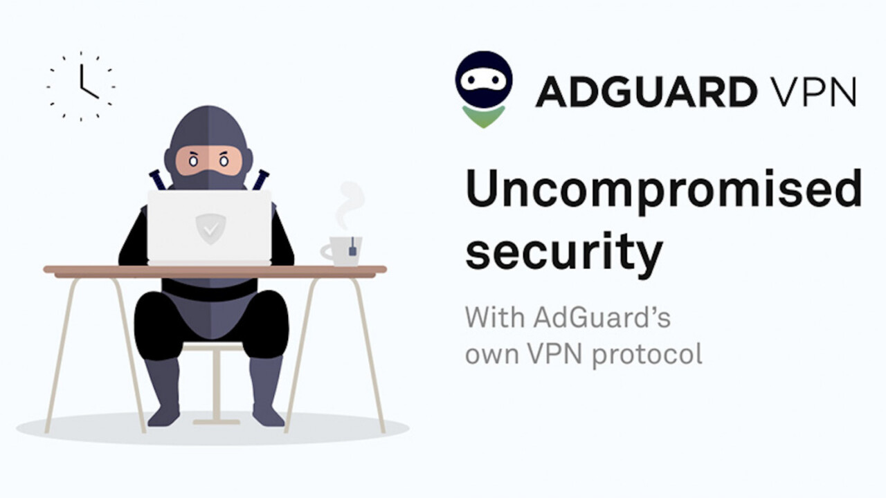 AdGuard's VPN service covers you with 5 years of staunch online protection for $8 a year