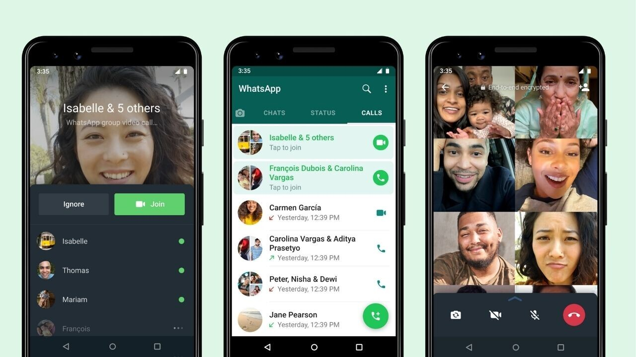 How to join a WhatsApp call after it's already started