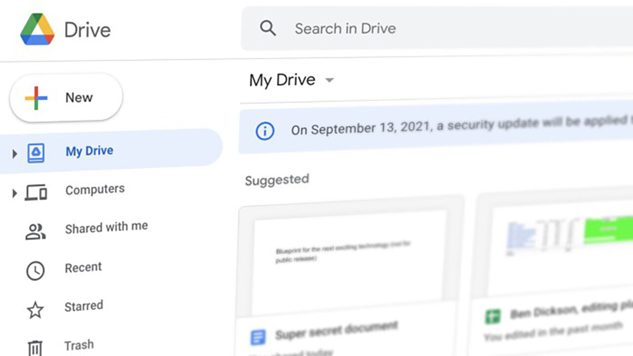Google Drive gets a security update in September —  here's what it means for you