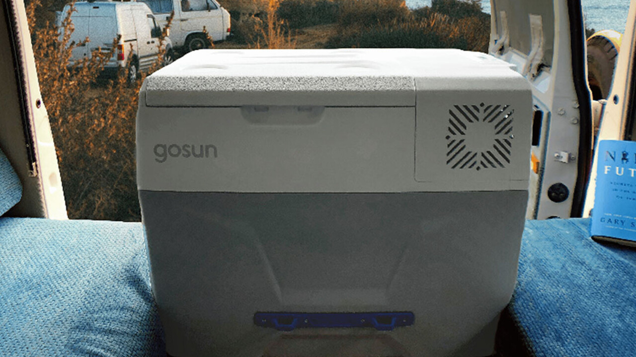 The GoSun Chill Solar Cooler means no ice necessary. And with solar panels, it's really a mobile fridge