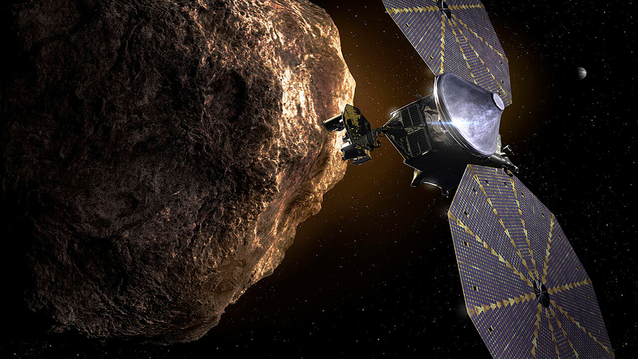 The Lucy spacecraft — designed to explore the Trojan asteroids of Jupiter — prepares for take-off