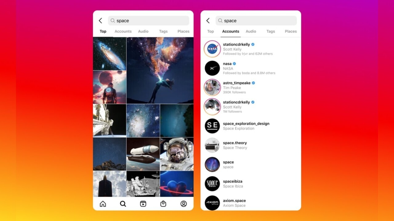 Instagram will finally show content when you search for stuff — like it should