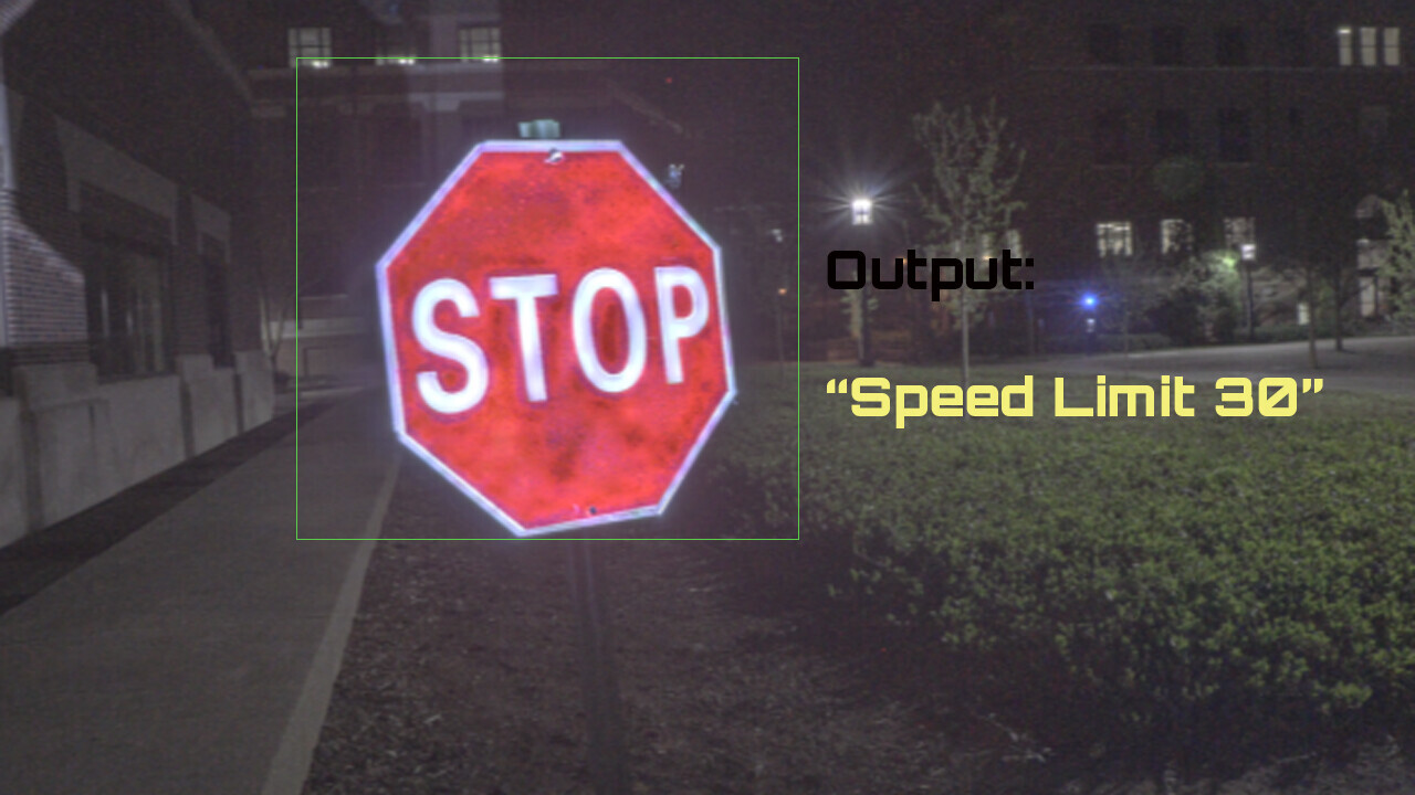 Researchers fooled AI into ignoring stop signs using a cheap projector