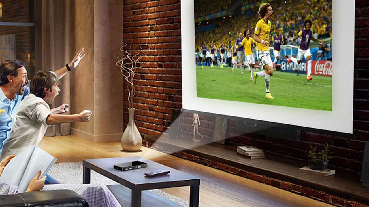 This portable projector has a bulb 4 times stronger than competitors, projects up to 200 inches — and almost 70% off