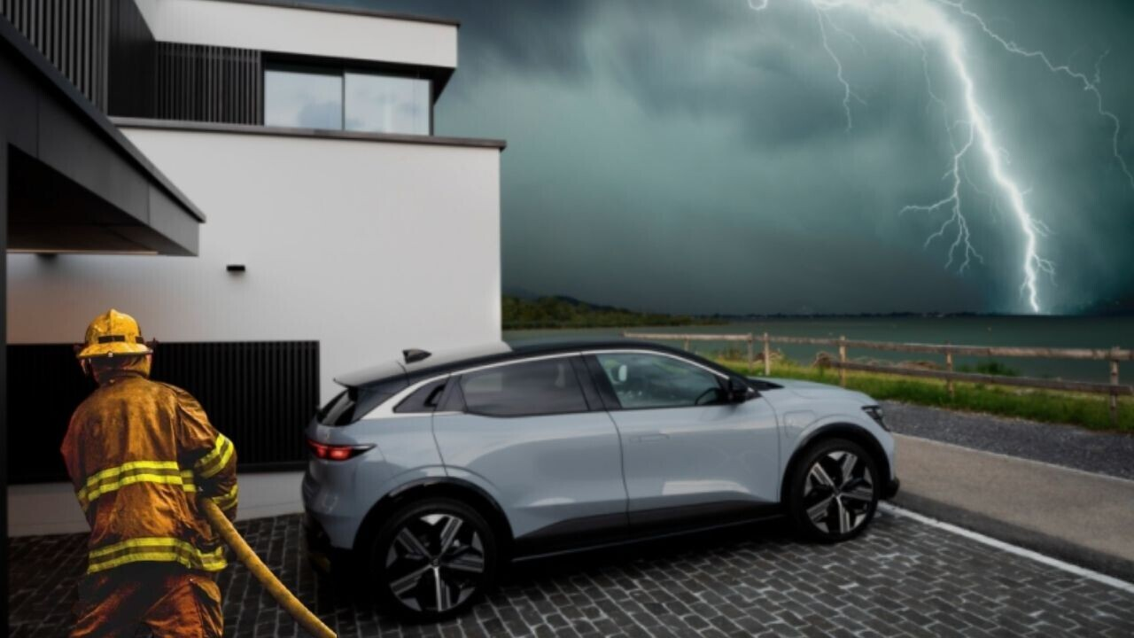 Renault's Megane E-Tech has cool new features for quenching battery fires