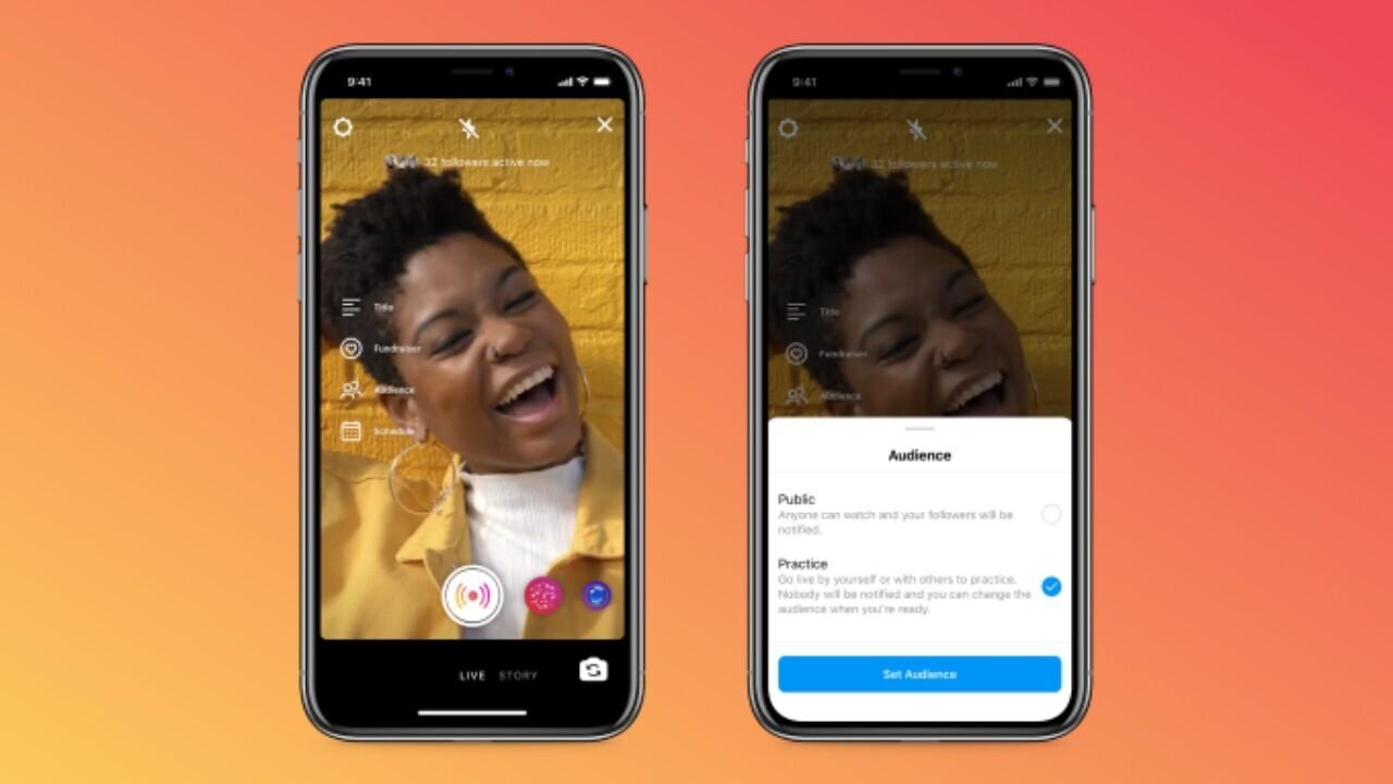 Instagram's new practice mode will help you avoid live video goof ups