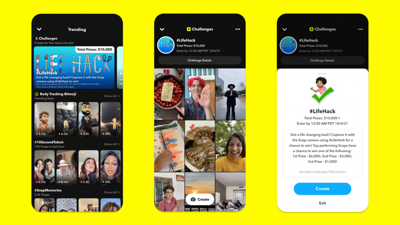 Snapchat is offering prizes to complete challenges — let the games begin