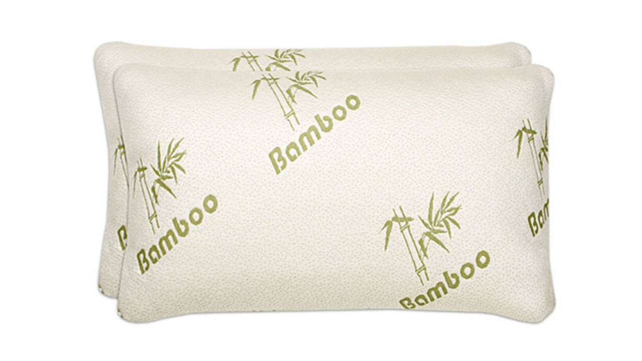 This memory foam bamboo covered pillow can be a nighttime game-changer