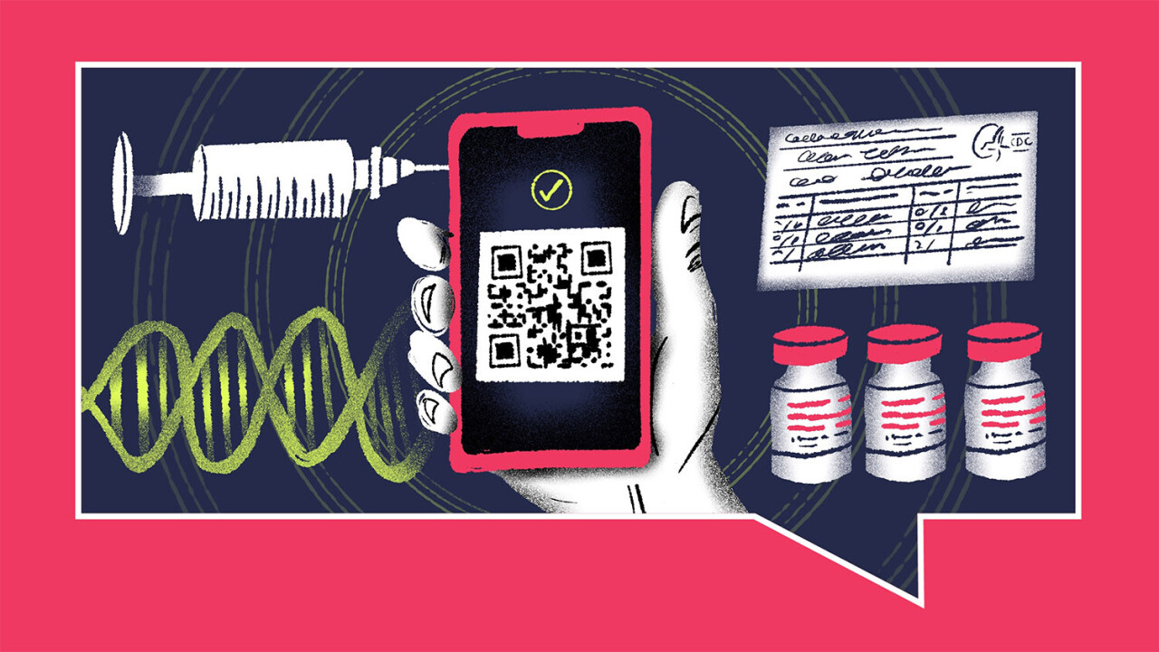 How can you safely store your vaccine status on your phone?