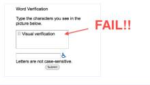 Google Apps visual verification FAIL! Featured Image