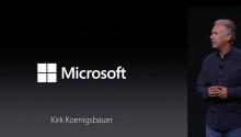 Microsoft showed up to demo Apple's new iPad