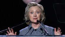 Hillary Clinton is (・_・ヾ by emoji