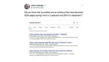 Wikileaks' Julian Assange🔹 is upset the media says he lives in a basement