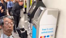 WATCH: Bitcoin ATM showers London's Bond Street station in cash money