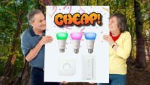 CHEAP: A Philips Hue starter kit (with white & color bulbs) for $110? SÍ, DA, JA, YES!