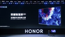 Honor's new TV runs HarmonyOS and has a pop-up camera
