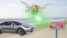 Tesla's Autopilot dangerously fooled by drone-mounted projectors