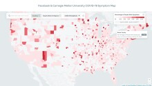 Facebook built a map that tracks COVID-19 symptoms by county