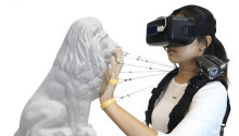 This haptic device uses strings to let you 'feel' objects in VR