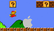 What was the better investment in 1985: Super Mario Bros or Apple stock?