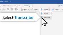 How to use Microsoft Word's new 'Transcribe' tool