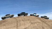 Watch the Rivian R1T dominate off-road terrain in eerie silence