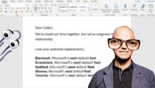 Microsoft teases Word's next default font — so we got a designer to weigh in