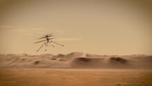 Watch NASA's Ingenuity helicopter fly over Mars in 3D