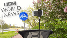 Only in the Netherlands could this BBC correspondent bring us the news by ebike