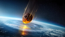 City-sized asteroids 'regularly' smashed Earth in its early years Featured Image